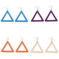 New Design Fashion 6 Color Cutout Triangle for Boho Woman Earrings Jewelry
