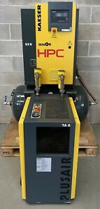 HPC / Kaeser SX8 Receiver Mounted Rotary Screw Compressor + Dryer + Filters!