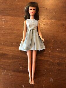 VINTAGE 1966 Francie Barbie Doll Brunette Mattel Stamped Made In Japan