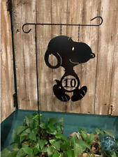 New ListingSnoopy-Inspired Address # or Single Initial Monogram Yard/Garden Flag - Decor 1