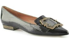 JIL SANDER WOMENS BLACK PATENT LEATHER POINTED TOE FLATS SHOES 36 / 6 new