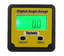 Taytools Angle Cube Digital Level Inclinometer Bevel Box  w/ Back Lit Display