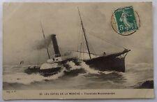 CPA les côtes de la manche 1910 bateau*