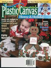 Plastic Canvas Home & Holiday Magazine December 2003, 23 plastic canvas patterns