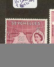 SEYCHELLES (B1201) QEII 35C MAP  SG180A    MOG