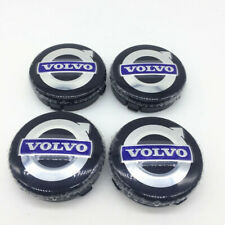 New Volvo Wheel Center Hub Caps Rim cap Black Blue Emblem 64mm 4pcs/set