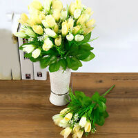 GN- 1 BOUQUET 15 HEADS FAKE TULIP ARTIFICIAL FLOWER WEDDING PARTY HOME DECOR MOD