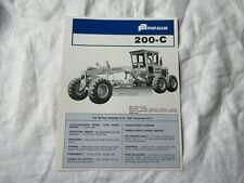 Fiat Allis 200-C motor grader brochure