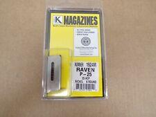 Raven P-25 Magazine 25 ACP NICKEL by Triple K - Model 1924M
