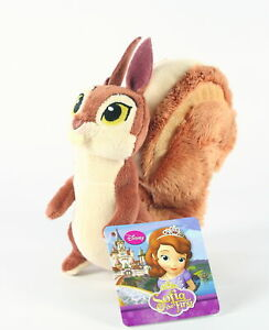 """SOFIA THE FIRST squirrel WHATNAUGHT 6"""" soft plush toy Disney Junior - NEW!"""