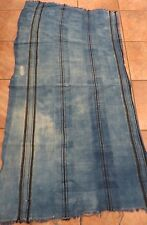 """Vintage African,Dogon, Mali Indigo Dyed Fabric/Hand Woven Cotton Strips/32""""x60"""""""
