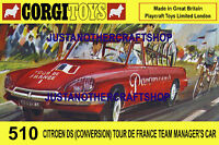Corgi Toys 510 Tour de France Citroen A3 Size Poster Advert Leaflet Shop Sign