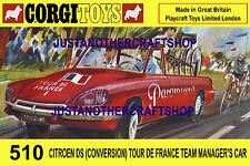 Corgi Toys 510 Tour de France Citroen A3 Size Poster Advert Leaflet Shop Sign