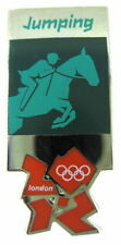 2012 London Olympics official pictogram Equestrian Horse Jumping Pin Badge