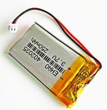 3.7V 250mAh 402035 Polymer Li-Po Battery JST 1.25mm For Mp3 Bluetooth GPS PSP