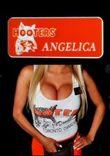 Hooters Uniform Angelica Name Tag Pin Back Dress Up Role Play Costume Accessory