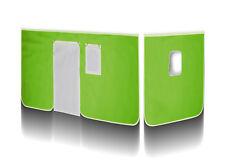SixBros. Vorhang Stoff Set für Hochbett grün/weiß VH-1417
