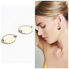 Free People Lena Bernard Amalfi Mini Hoop Earrings NWT Goldtone Bronze