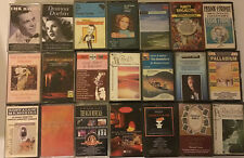 Vintage CASSETTE TAPES X 21 BUNDLE Musicals,classical,greatest Singers Old Days