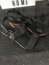 Black Hush Puppies Wedge Size 7