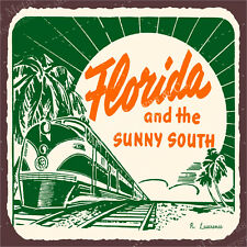 (VMA-L-6436) Florida Sunny South  Vintage Metal Art Florida Retro Tin Sign