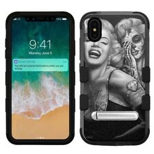 "for Apple iPhone Xs Max (6.5""), Hard+Rubber Rugged Case Marilyn Monroe #S"