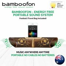 BambooFon - Energy Free Portable Sound System - Football (Travel Bag Included)