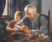 The Prayer James Seward Religious Little Boy Bible Praying Christian Print 🎨