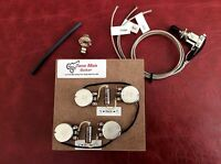 The 59 Wired Prebuilt Kit Fits Gibson Epi Les Paul Short Shaft Pots, switch