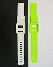 Green & White Silicone Watch Band Wrist Strap Skin Cover Apple iPod Nano 6th gen