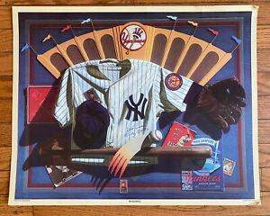 1990 Gary Erbe NY Yankees PRINT Poster - 18.5 x 23