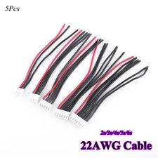 5X IMAX B3B6 RC Lipo Batería Balanceador cargador Enchufe conector 22AWG Cable