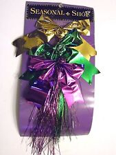 Purple Gold Green Foil Mardi Gras Rose Bows SPRING Party DECORATION