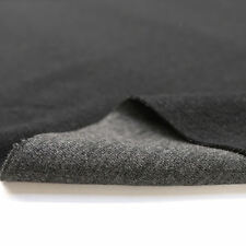 Baumwoll-JERSEY Elastischer Samt Weicher Stoff in Grau Schwarz Winter Meterware