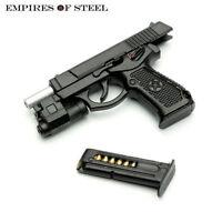 Plastic 1/6 QSZ92 Semi-automatic Pistol gun Model Toy F SWAT Soldier Figure body