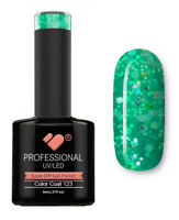 123 VB™ Line Green Silver Glitter - UV/LED soak off gel nail polish