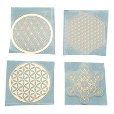4pcs/set Metal Energy Decor Sticker Flower of Life F3z3 U5y