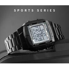 SKMEI Watch Sport Womens Mens Alarm Waterproof Digital LED Wristwatch Black UK