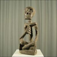 59128) Afrikanische Holz Skelett-Figur Luba Kongo Afrika KUNST