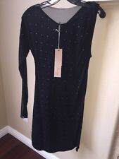 NWT $298 Max Azria BCBG Herve Leger Runway Black Crystal LBD Dress XXS XS