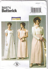 Regency Empire Wedding Dress Gown Jane Austen Costume Pattern Sz 6 8 10 12 14