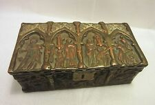 Vintage Pompeian Bronze Company Gothic Medieval Casket Box