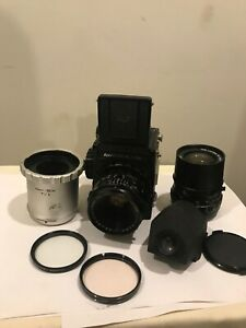 Kowa 6 Outfit -Body, 85mm f2.8, 55mm f3.5, Waist Level, Eye Level & T1 Extension