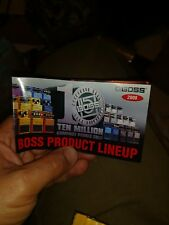 2008 BOSS PRODUCT LINEUP PEDALS BROCHURE POSTER 2 SIDED FREE US SHIPPING
