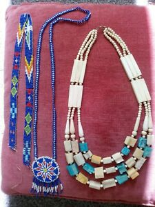 Necklaces Country & Western, Hand made Vintage beads Bundle