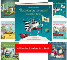Usborne Phonics Stories Raccoon on the Moon and Other Tales (hc) Leslie Sims