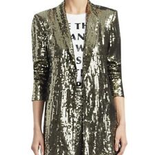 NWT Alice + Olivia $598 Medium Jace Gold Sequin Oversized Blazer NEW SOLD OUT