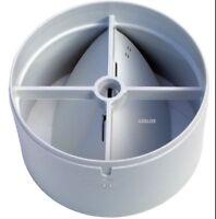 "Manrose 1230 100mm 4"" Round PVC Inline Backdraught Shutter Free Postage"