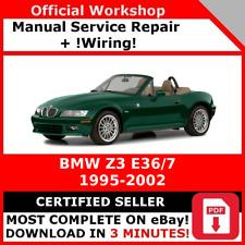 # FACTORY WORKSHOP SERVICE REPAIR MANUAL BMW Z3 E36/7 1997 - 2002