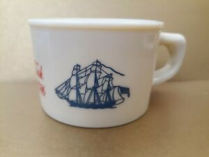 Vintage Old Spice Shaving Mug Shulton Ship Recovery Salem 1786 Excellent